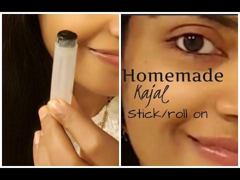how to make smudge proof kajal at home