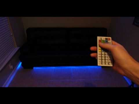 led under couch lighting how to make your couch modern youtube