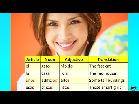 Learn Spanish: Number & Gender Agreement for Spanish Nouns Adjectives and Articles