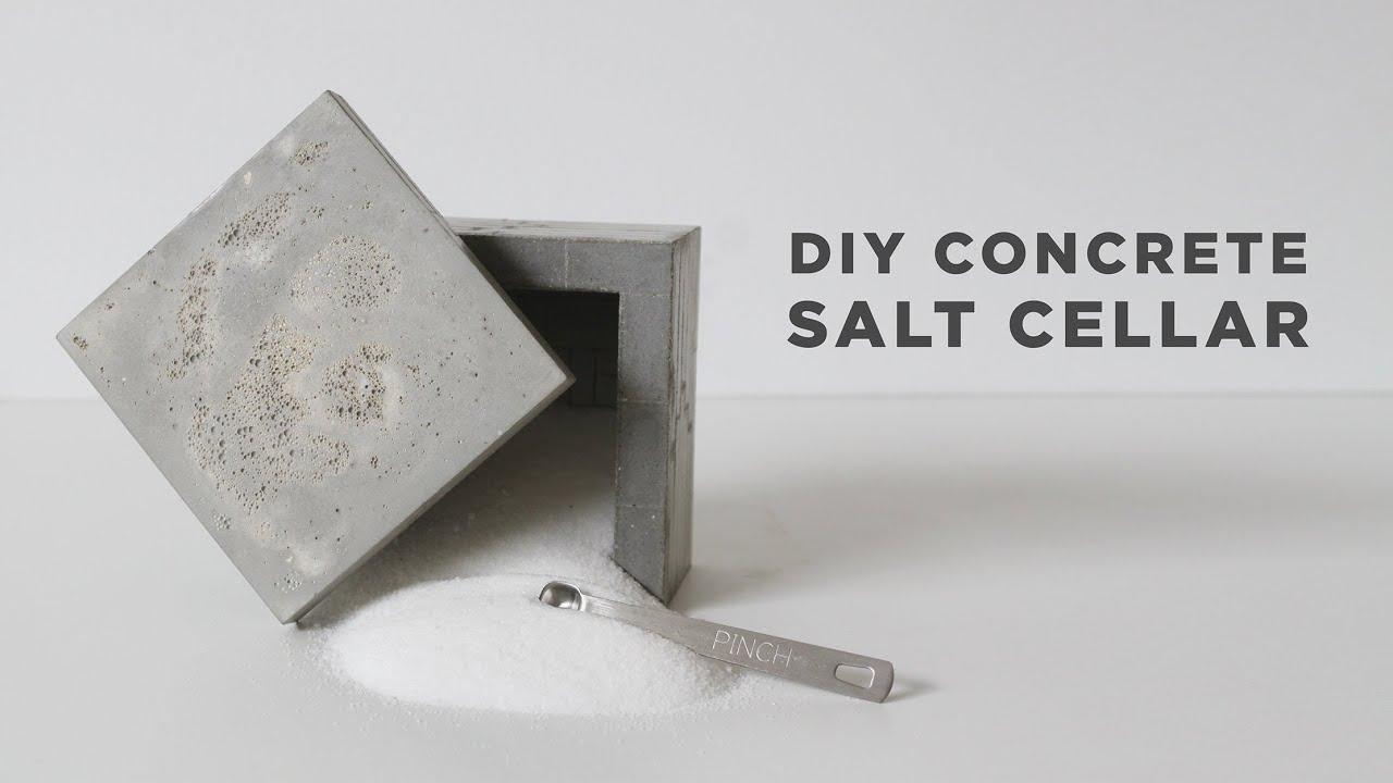 Diy Salt Cellar How To Make A Concrete Box Youtube
