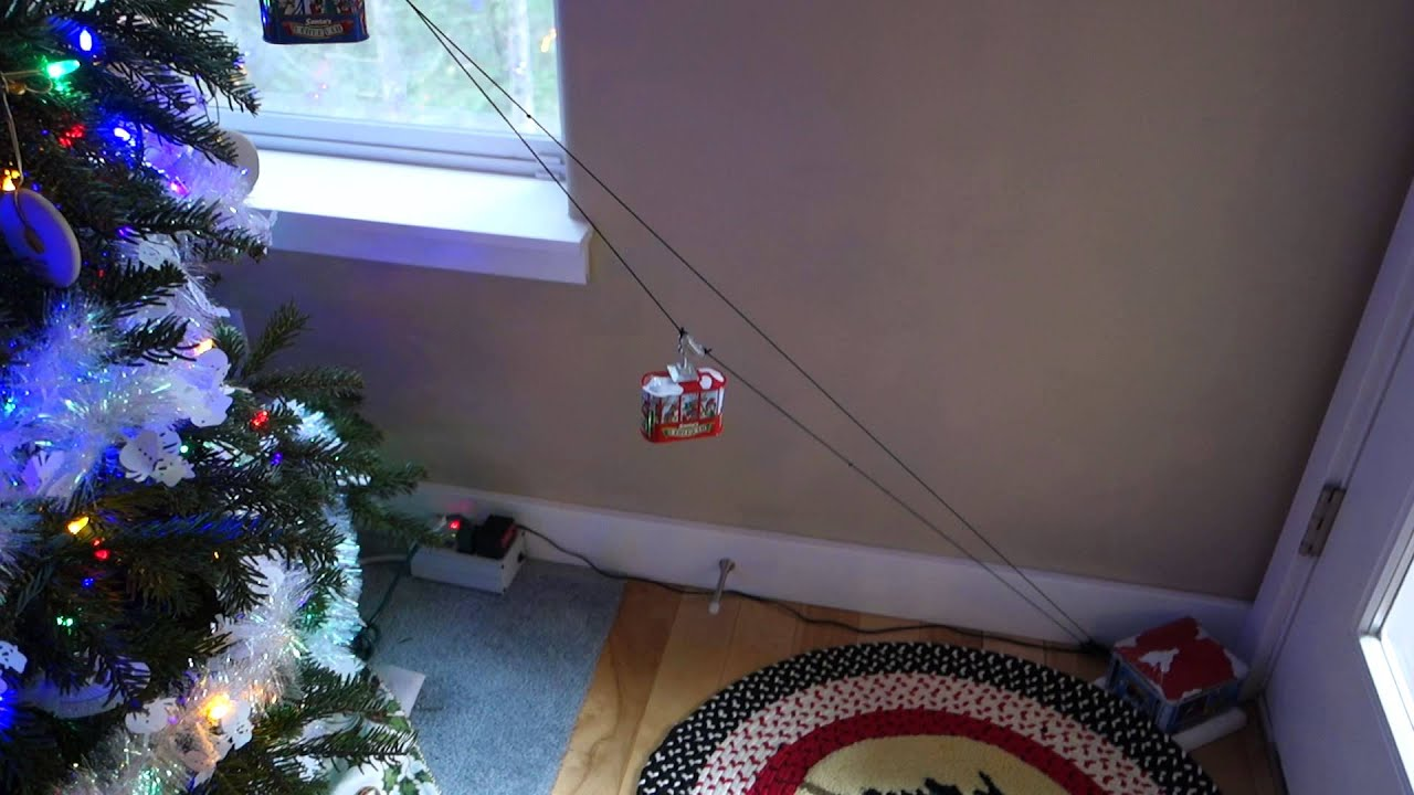 Car Christmas Tree Topper.Mr Christmas Cable Car Tree Topper