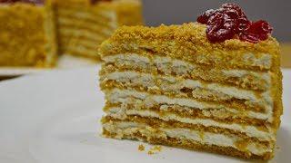 Торт МЕДОВИК и Сметанно - Сливочный Крем | Очень Нежный!! Cake Medovik