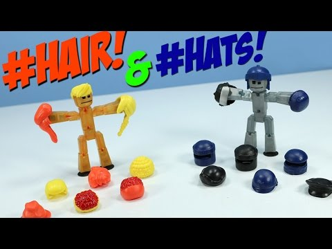 Stikbot Action Pack Roll Play Accessory Hair Styling And Armor Hats