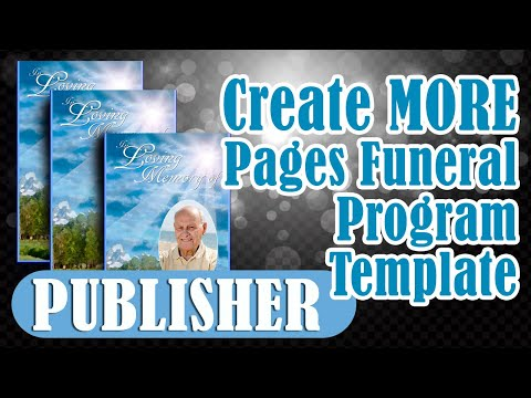 Obituary Word Template. creating additional pages in microsoft ...