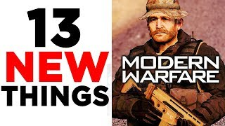 Modern Warfare Campaign Gameplay INCOMING! (13 New Things)