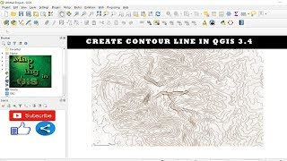 Create contour line in QGIS 3.4 - Mapping in GIS