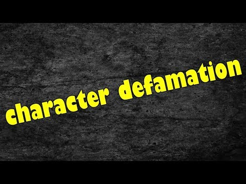 Character Defamation, Searching for Wilberforce