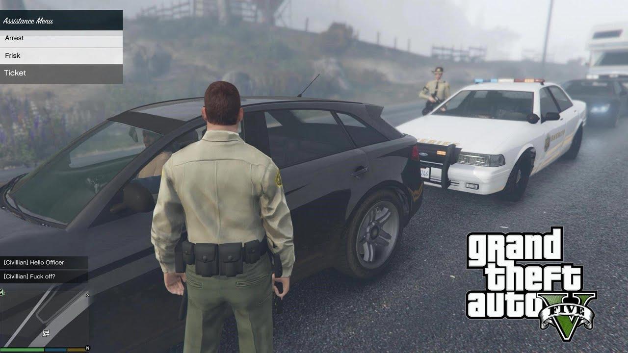 GTA 5 PC Mods - PLAY AS A COP MOD! GTA 5 SAPDFR/LSPDFR Police Mod Gameplay  3! (GTA 5 Mods Gameplay)
