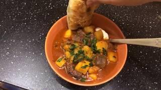 Простой рецепт вкусной картохи с мясом! ВКЛЮЧИТЕ СУБТИТРЫ! Мужская еда