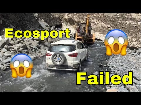 Real #JCBkikhudai: JCB Bulldozer Rescues a Ford Ecosport Stuck in Water Stream - Watch Video