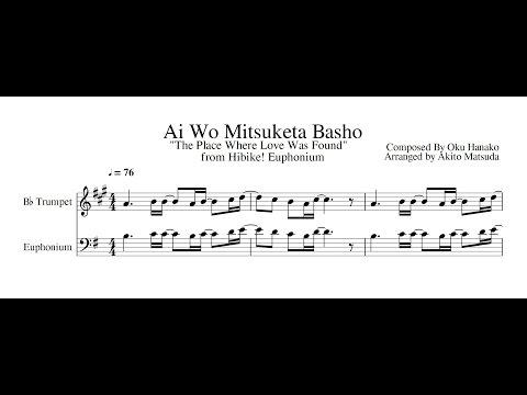Hibike! Euphonium Duet Sheet Music Ep 8 Ai Wo Mitsuketa Basho