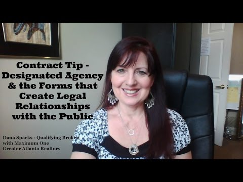 Contract Tip - Designated Agency & Forms Creating Legal Relationships with Public
