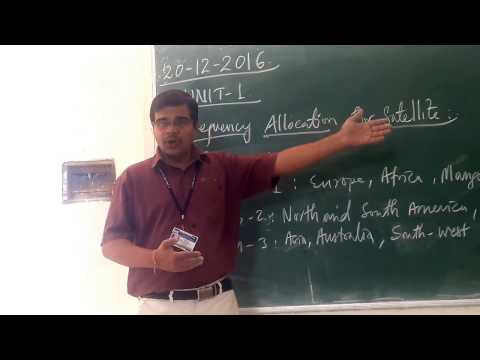 SC UNIT 1 TOPIC 5/14  Frequency Allocation for Satellite