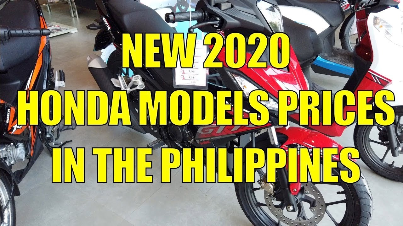 New 2020 Honda Models Prices In The Philippines Youtube