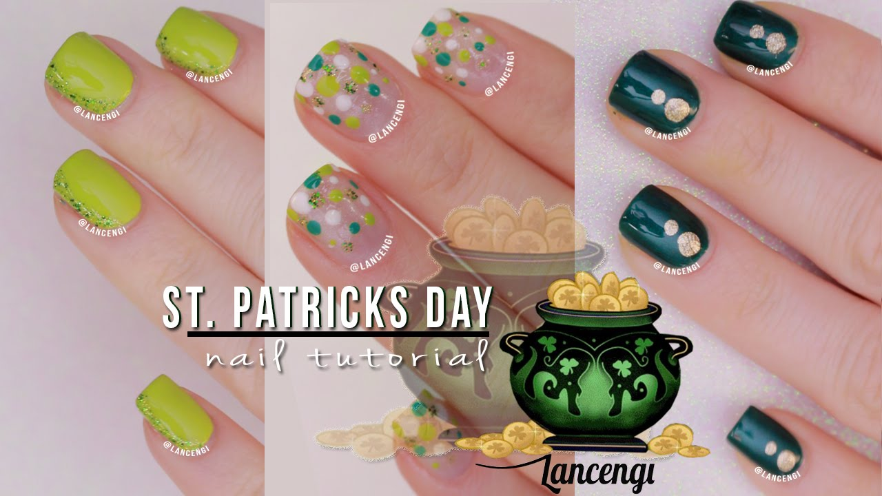 Diy Cute Easy Nail Art For Beginners 25 Saint Patricks Day Polish Designs Youtube