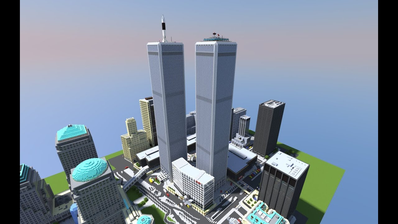 Minecraft World Trade Center Never Die Youtube