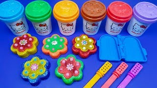 5 Glitter Flowers Play Doh Making 3 Glitter Ice Cream | Surprise Toys LOL Surprise