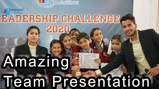 Amazing Team Presentation by School Students    Trained by SYNONYM SOLUTIONS