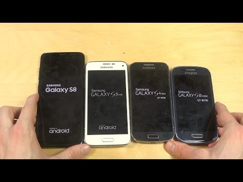Samsung Galaxy S8 vs. S5 Mini vs. S4 Mini vs. S3 Mini - Which Is Faster?