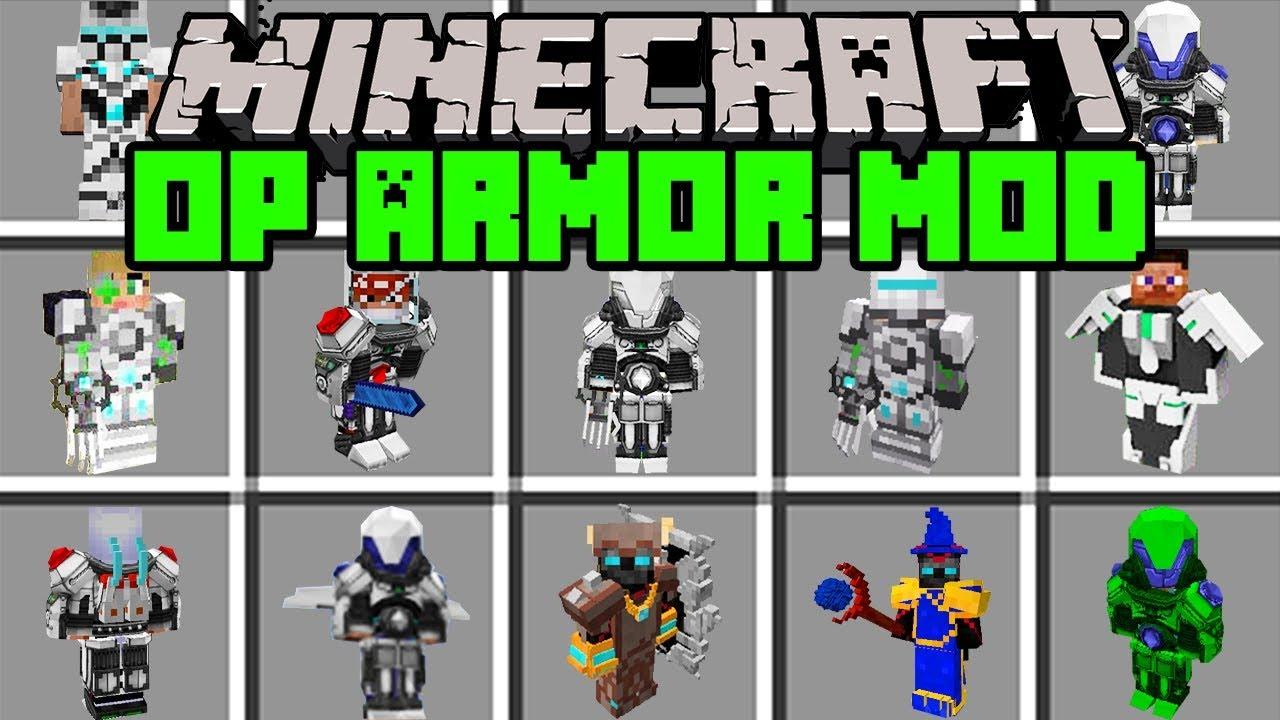 Minecraft OVERPOWERED ARMOR MOD CRAFT WORLD S STRONGEST ARMOR
