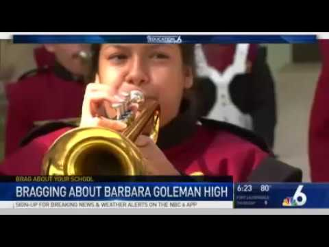 Barbara Goleman Senior High School - a school to BRAG about