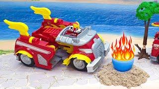 Мультики с игрушками Щенячий патруль   плохой и добрый Маршал!