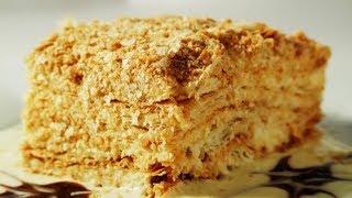видео Заварной крем с грецкими орехами для торта Наполеона