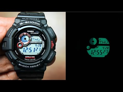 Casio G-shock Mudman G-9300-1   Unboxing + Light demo - YouTube f26dba8f6e09