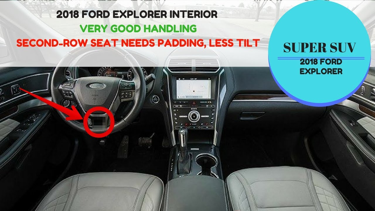2018 ford explorer interior second row seat needs padding less tilt zuber car
