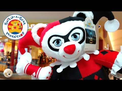 stuffing harley quinn girl build a bear doll dc comic. Black Bedroom Furniture Sets. Home Design Ideas