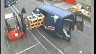 Forklift and van door
