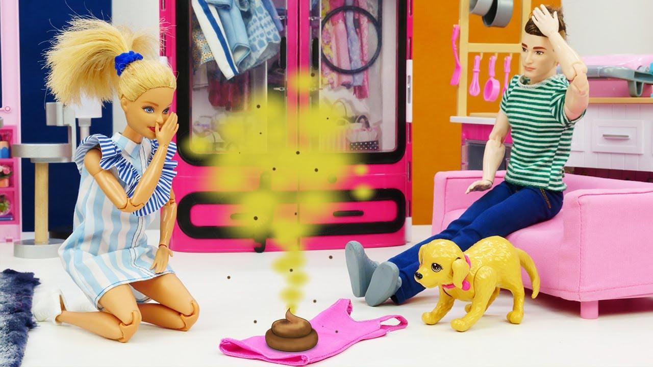 Ken olvida sacar a pasear al perro. Barbie en español. Vídeos para niñas