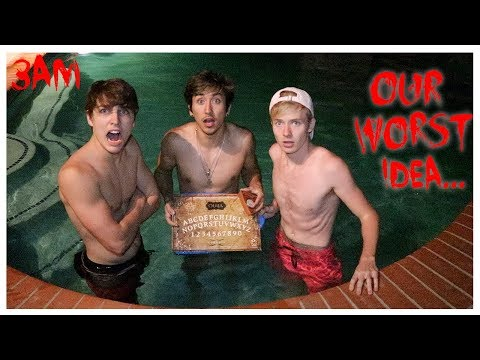 OUIJA BOARD in the POOL! (DEMON CAUGHT ON CAMERA) *SCARY*