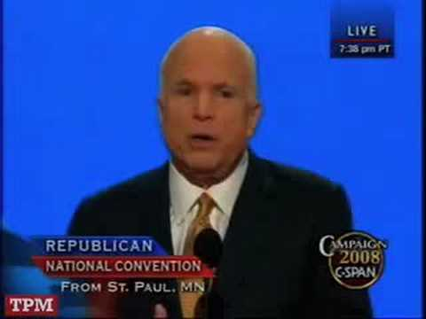 John McCain Addresses The RNC