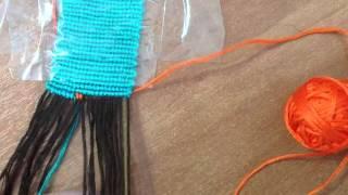Видео урок фенечка прямым плетением более двух цве