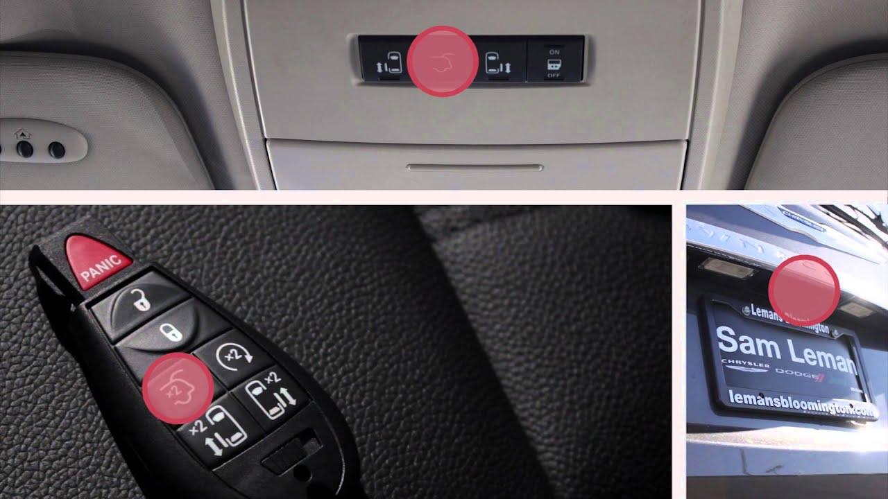 2015 Chrysler Town And Country Key Fob And Power Door