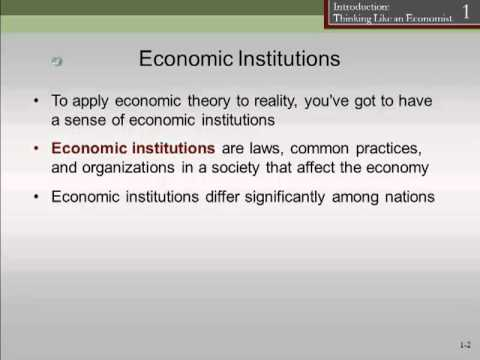 Chapter 1: Economic Institutions
