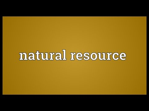 Natural resource Meaning