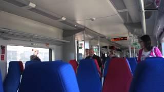 """Скоростной поезд """"Ласточка"""". Внутри вагона"""