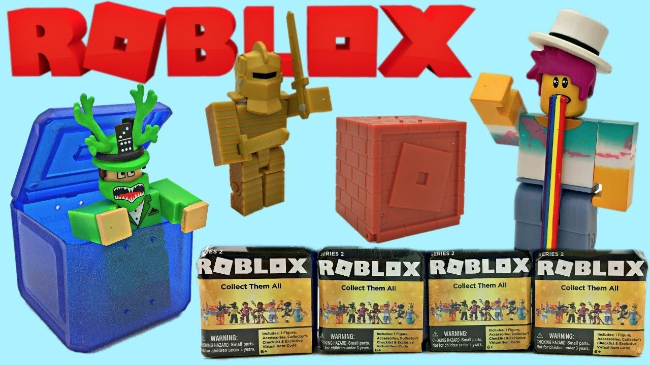 New Roblox Blind Mystery Series 4 Red Box Figure Cardboard Crusader Code I Found Rainbow Barf Face Roblox Blind Boxes Youtube