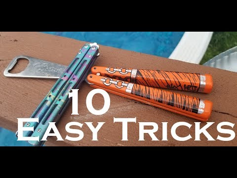 First 10 Balisong Tricks You Should Learn. 10 Beginner Butterfly Knife Tricks.