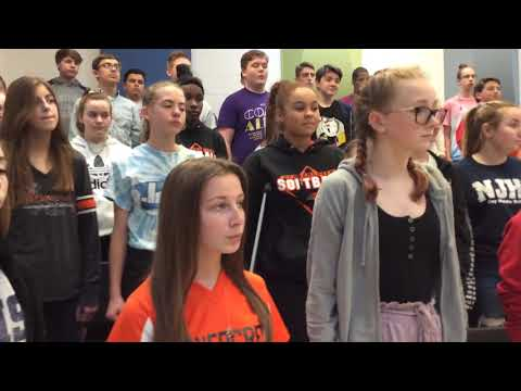The Seal Lullaby by Eric Whitacre performed by Jacob Coy Middle School 8th Grade Choir Una Voce