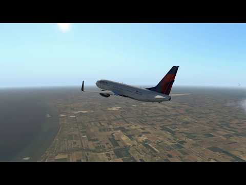 Delta Airlines 2437 | Detroit Metro to Boston Logan International | X Plane 11 737-800 Zibo Mod