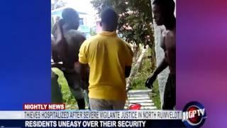 THIEVES HOSPITALIZED AFTER SEVERE VIGILANTE JUSTICE IN NORTH RUIMVELDT