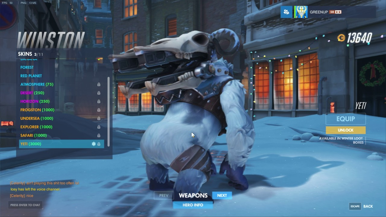 Overwatch Winston Yeti Xmas Skin - YouTube