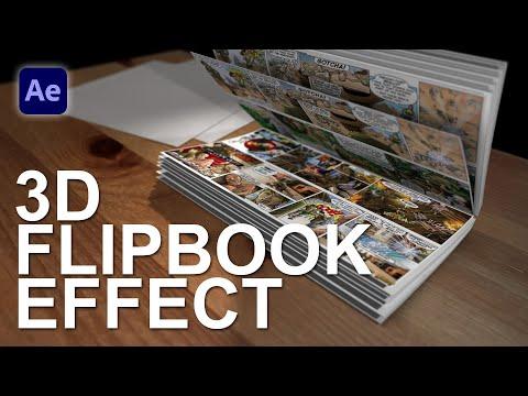 3D FLIP BOOK EFFECT (After Effects Template) - Популярные видеоролики!