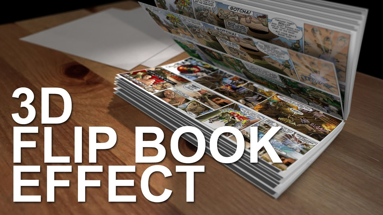 3d flip book effect after effects template youtube