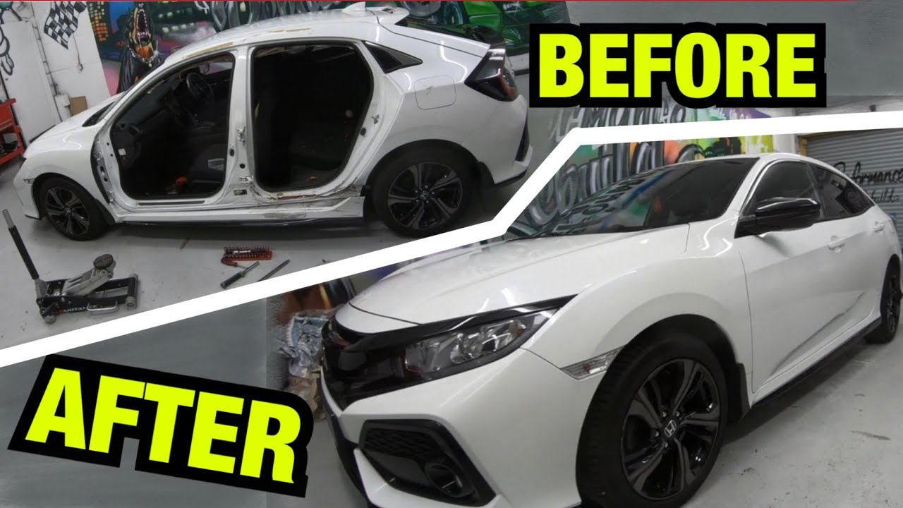 Rebuilding a salvage HONDA CIVIC in 5mins