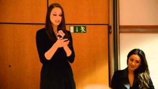 Troian Bellisario singing in french
