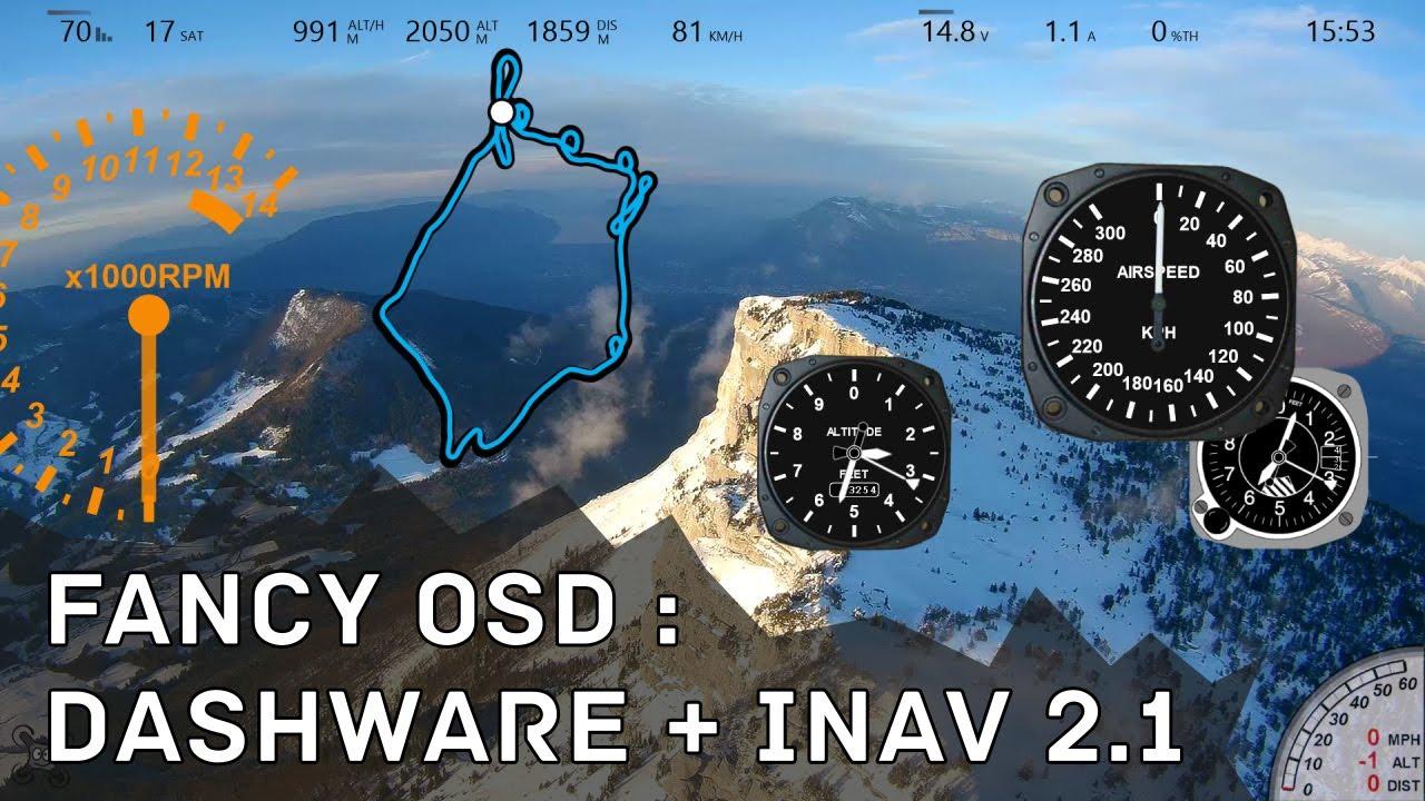 Fancy OSD : Dashware + iNav